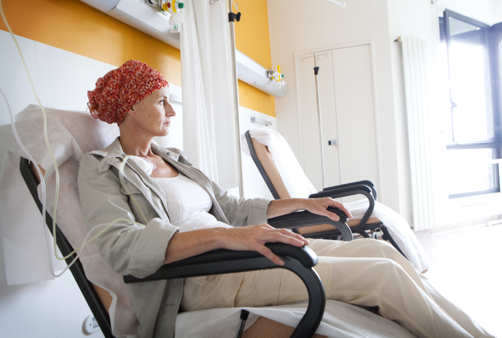 chemotherapy-woman-sitting-in-chair